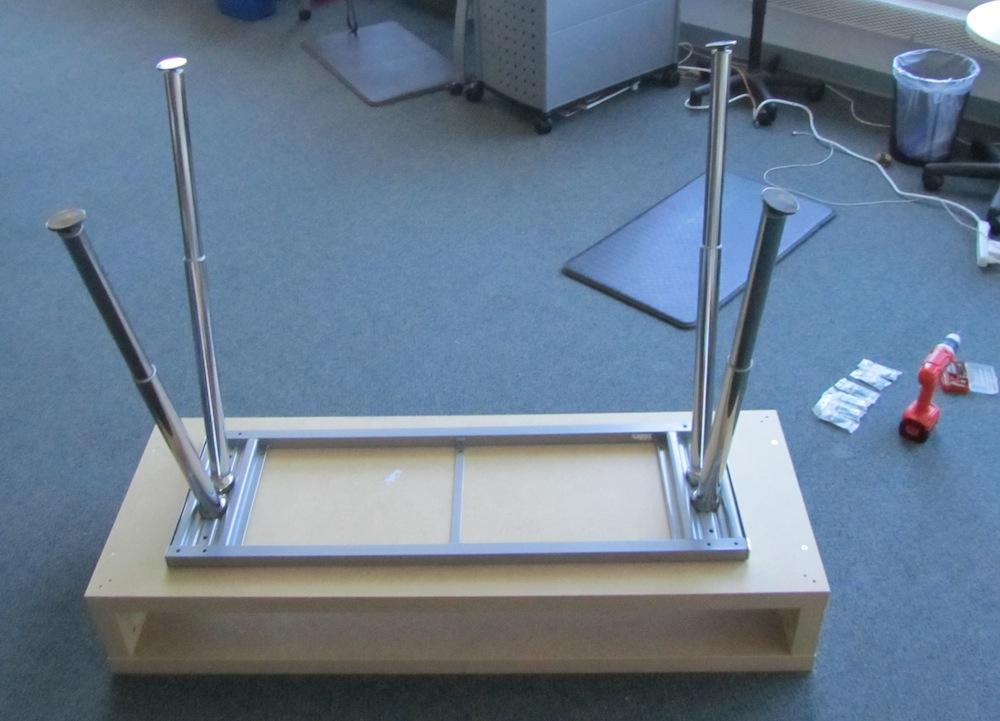 simple adjustable standing desk jessica 39 s blog. Black Bedroom Furniture Sets. Home Design Ideas